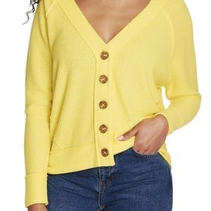 1. State | Yellow Button Sweater